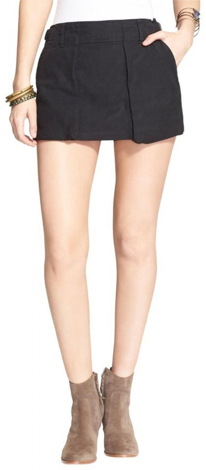 Free People Plum Mini Utility Skort/Short