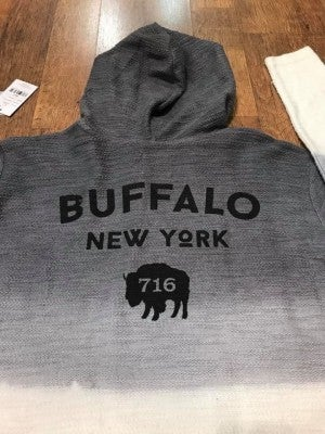 """City of Light"" 716 Buffalo NY Ombré  Hoodie"