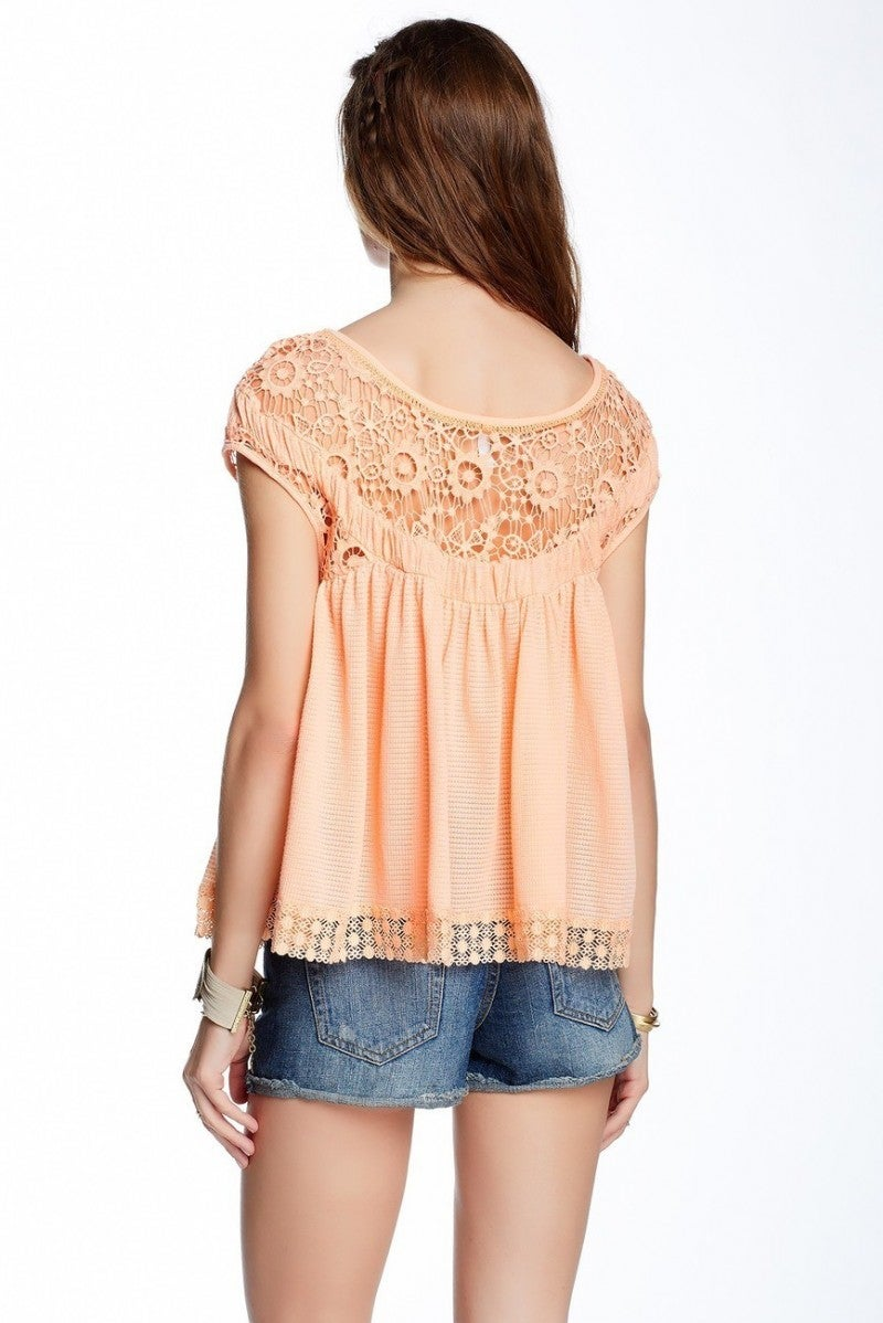 Free People Heartthrob Babydoll Blouse