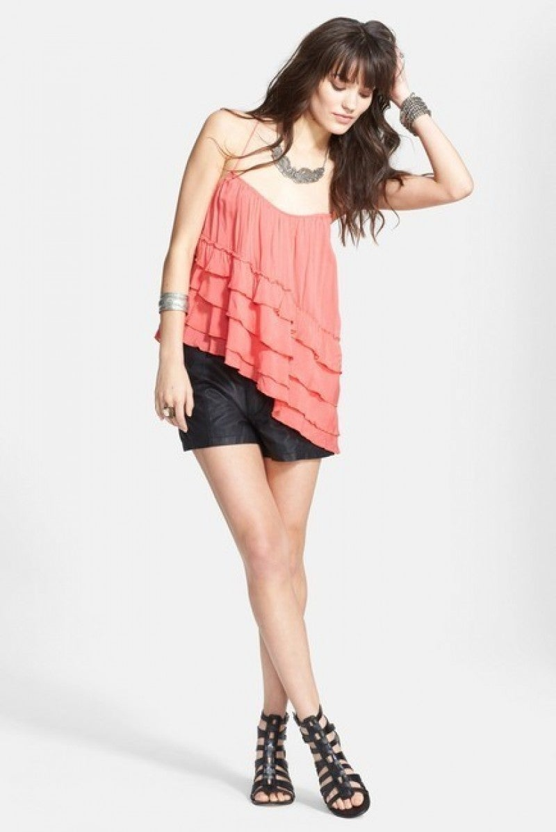 Free People - Ruffled Tier Tank  Asymmetrical