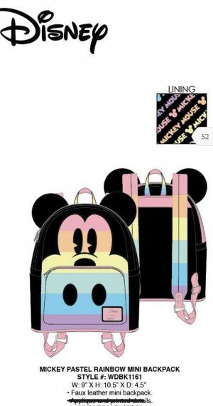 Mickey Patel Rainbow Mini Backpack Loungefly PRE-ORDER