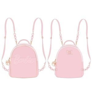 Barbie Rose Gold Logo Convertible Mini-Backpack and/or Wallet Set Loungefly PRE-ORDER