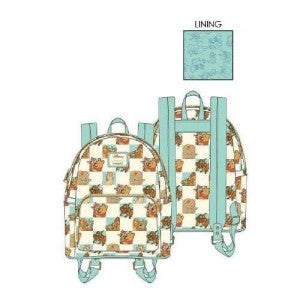 LOUNGEFLY DISNEY MINT FRIENDS CHECKERED MINI BACKPACK AND/OR WALLET - PREORDER