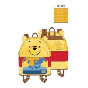 LOUNGEFLY DISNEY WINNIE THE POOH HUNNY TUMMY MINI BACKPACK AND/OR CARD HOLDER WALLET - PRE-ORDER