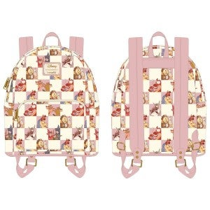 Disney Best Friends Characters Rose Checker Mini Backpack and / or Flap Wallet Set PRE-ORDER
