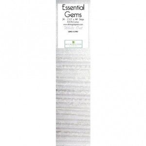 Quilting Strip Packs- Essential Gems, White Out
