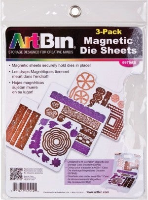 Magnetic Refill Sheets for Die Storage Case, 3 Sheets