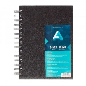 "Sketch Book, Spiral Hard Bound Cover, 5.5"" x 8"""