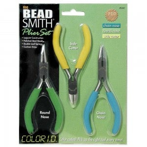 Color I.D. 3 piece Beading and Jewelry Tool Pack, Bead Smith