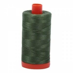 Aurifil Thread 50wt Cotton 1422 yard, Very Dark Grass Green