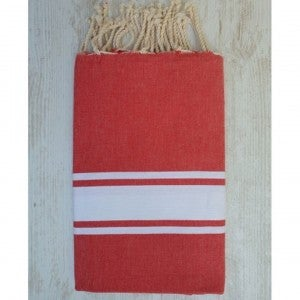 Traditional Fouta Red & White