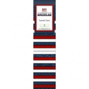 Quilting Strip Packs- Essential Gems, All American