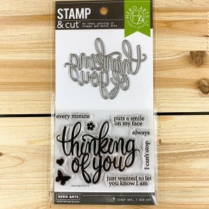 Hero Arts- Thinking Of You Stamp & Die Cut (Set)