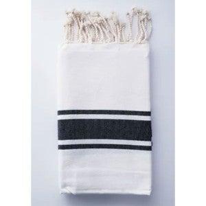 Traditional Fouta White & Black