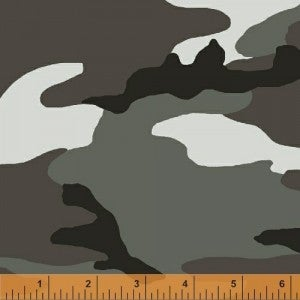 1 Yard Cut Fabric, Camo Army Greys