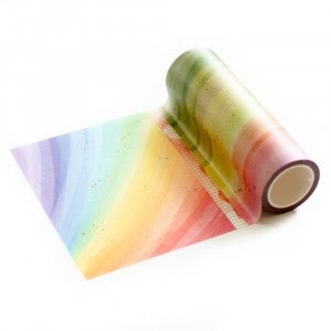 Rainbow With Splatters Washi Tape, Pink Fresh