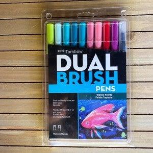 Tombow Dual Brush Pens, Tropical Palette, 10 pcs
