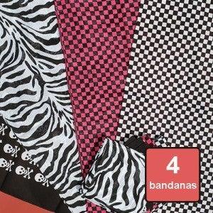 Bandanas - 80's Checker 4 Pack