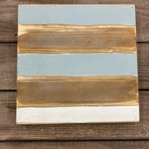 Wood Square Pallet Board, 12 x 12- Blue, White, and Natural