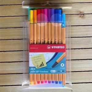 STABILO Point 88 Fineliner Pens 0.4mm, 20 pcs