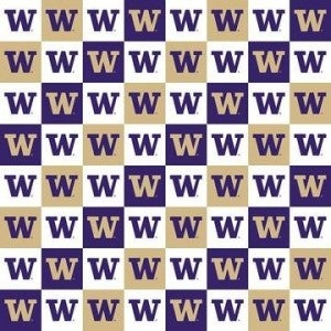 1 Yard College Cut Fabric, University of Washington Patch