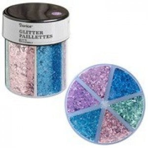Darice® 6-Color Shredded Glitter Caddy: Pastels
