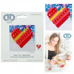 Diamond Dotz Facet Art Kit Starter Patchwork Heart