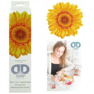 Diamond Dotz Facet Art Kit Beginner Happy Day Sunflower