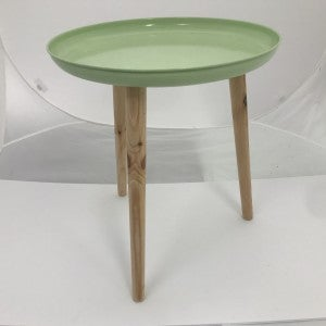 """Colorful Metal Tray With Dowel Legs, Green, 18"""" Tall"""