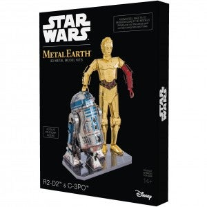 Metal Earth 3D Model Kit,  R2-D2 and C-3PO