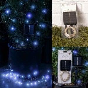 White 100ct FireflySolar String Lights