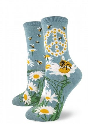 Give Bees a Chance Crew Socks