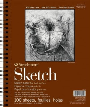 "Strathmore Sketch Pad, 9"" x 12"", 100/Sheets"