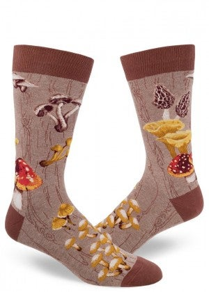Mushroom Men Crew Socks