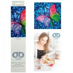 Diamond Dotz Facet Art Kit Intermediate Flutter By Pink