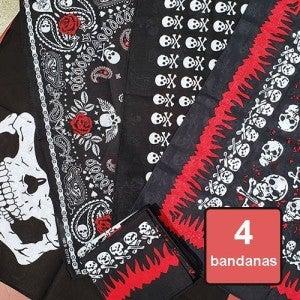 Bandanas - Skull 4 Pack