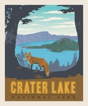 1 Yard National Parks Cut Fabric Panel, Crater Lake