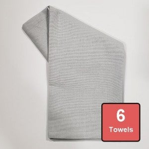 Glacier Grey Cotton Tea Towels 6pc