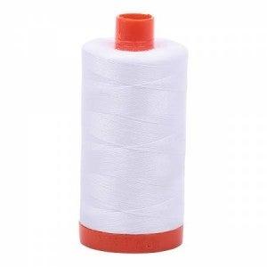 Aurifil Thread 50wt Cotton 1422 yard, White