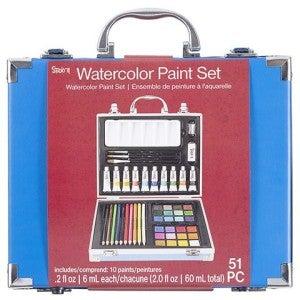 Studio 71 Watercolor Painting Art Set, 51 pieces
