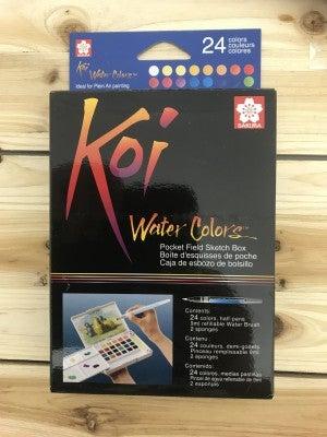 Koi Field Watercolor 24 Color Box Set
