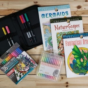 Dover Coloring Book Mystery 3 Pack Bundle