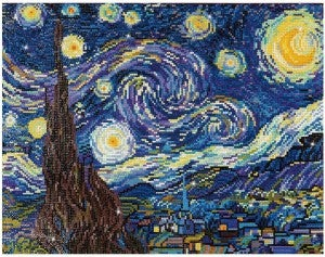 Diamond Dots, Starry Night Van Gogh