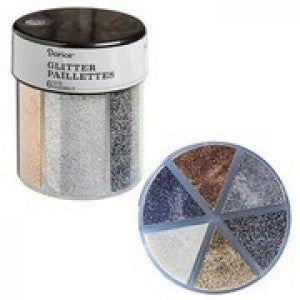 Darice® 6-Color Glitter Caddy: Metallics