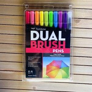 Tombow Dual Brush Pens, Bright Palette, 10 pcs