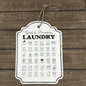 """Enamel Laundry Guideline Wall Art, 15-1/2"""" x 12"""""""