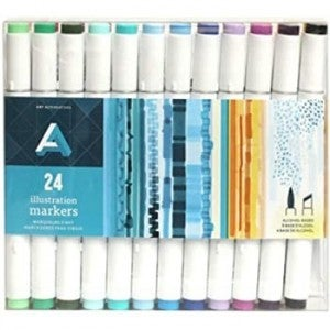 Alcohol Marker Set, 24 Colors