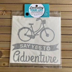 Say Yes to Adventure with Bike, Vinyl Black