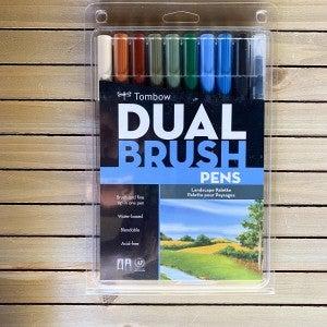 Tombow Dual Brush Pens, Landscape Palette, 10pcs