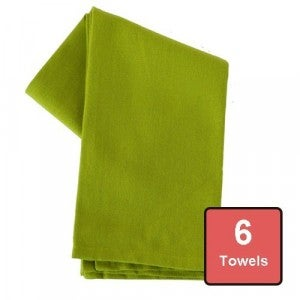 Lime Zest Cotton Tea Towels 6pc